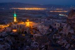 Night in Uchisar. Stock Image