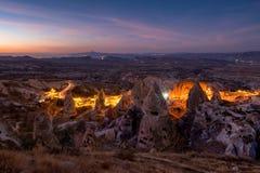 Night in Uchisar. Royalty Free Stock Photos