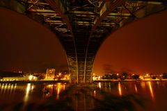 Night Under The Bridge Stock Image