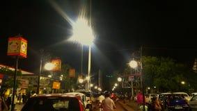 night under light stock photo
