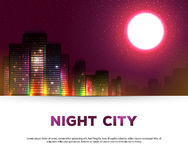 Night urban city background Royalty Free Stock Photo