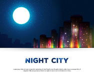 Night urban city background Stock Image
