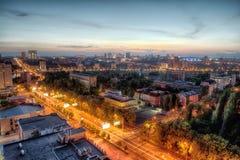 Night urban landscape, DNR Stock Image