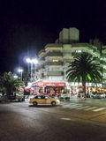 Night Urban Scene in Villa Gesel Argentina Royalty Free Stock Images