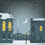 Night urban winter Royalty Free Stock Images