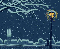 Night urban winter Stock Photos