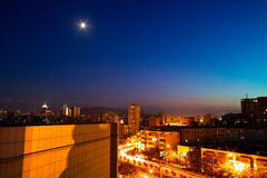 Night of Urumqi City Royalty Free Stock Image