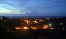 Night in the valley. This is a photo of lights and skyline of the valley below Royalty Free Stock Image
