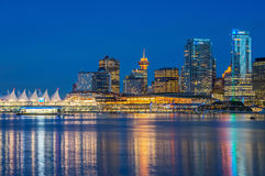 Night Vancouver Royalty Free Stock Images