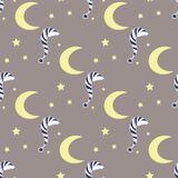 Night vector pattern Royalty Free Stock Photo