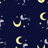 Night vector pattern Stock Photos