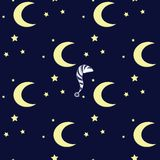 Night vector pattern Stock Images