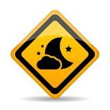 Night vector sign Royalty Free Stock Photography