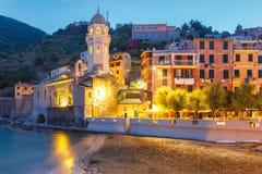 Night Vernazza, Cinque Terre, Liguria, Italy Stock Images