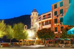 Night Vernazza, Cinque Terre, Liguria, Italy Stock Photos