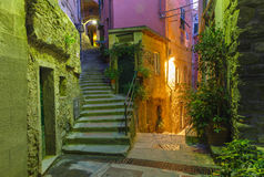 Night Vernazza, Cinque Terre, Liguria, Italy Royalty Free Stock Images
