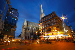 night vienna Στοκ εικόνες με δικαίωμα ελεύθερης χρήσης