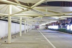 Night vies of a car park stock photos