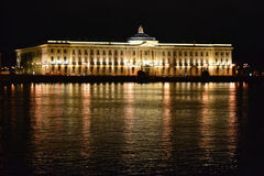 Night view of Academy of Arts in St.Petersburg Royalty Free Stock Photography