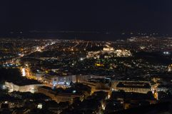 Night view of the Acropolis Stock Image
