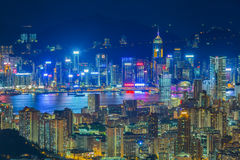 Night view aerial,Hong Kong Stock Image