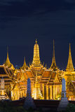 Night view, aerial view Bangkok Grand Palace Stock Photos