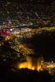 Night view at the Alanya Stock Photos