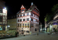 Night view of Albrecht Durer's House in Nuremberg Stock Photos