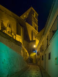 Night view of Alhama de Granada, Spain Royalty Free Stock Image