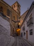 Night view of Alhama de Granada, Spain Royalty Free Stock Photo