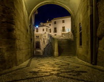 Night view of Alhama de Granada, Spain Royalty Free Stock Images