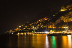 Night view of Amalfi Stock Image