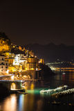 Night view of Amalfi Stock Photography