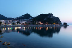 Night view of Amasra bay, Turkey Royalty Free Stock Images