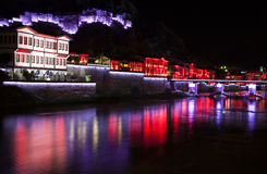 Night view of Amasya city center, Turkey Royalty Free Stock Photography