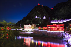 Night view of Amasya city center, Turkey Royalty Free Stock Image