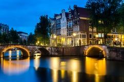 Night View of Amsterdam stock photo