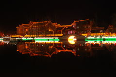 Night view of the ancient city of Weinan Royalty Free Stock Image