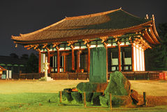 Night view of ancient temple stock images