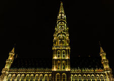 Night view of the  ancient Town Hall Royalty Free Stock Image
