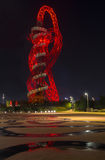 Night view of the ArcelorMittal Orbit, Queen Elizabeth Olympic Park, London Stock Images