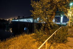 Arch bridge. Night view of the arch bridge, lighted of the nightly lanterns Royalty Free Stock Image