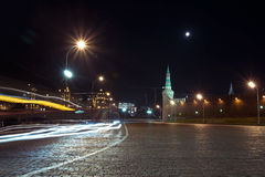 Night view of Area Vasilevsky descent near The Red Square, Moscow, Russia Royalty Free Stock Photo