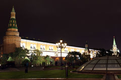 Night View of Arsenal an d Arsenal Tower of Moscow Kremlin from Stock Photography