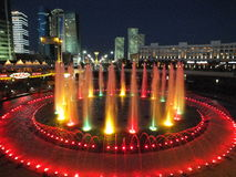 A night view in Astana Royalty Free Stock Images