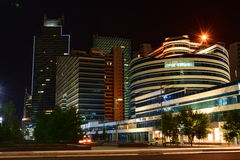 A night view in Astana Royalty Free Stock Photos