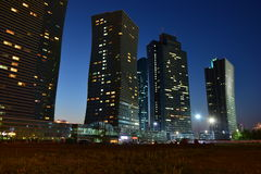 A night view in Astana Royalty Free Stock Photo