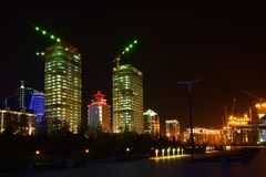 A night view in Astana Stock Images
