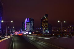 A night view in Astana Royalty Free Stock Image