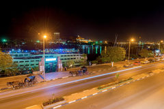 Night view at Aswan in Egypt. Stock Photo